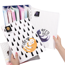 Multicolor Cartoon File Folder Plastic Data Book Small Fresh Paper Folder Data Book 20 40 Pages A4 Business Folder