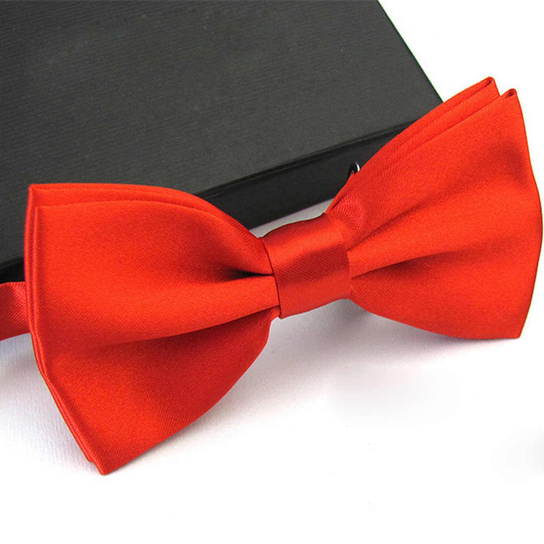 Sıcak satış 1 adet beyefendi erkek klasik saten papyon kravat düğün parti için ayarlanabilir erkek kelebek papyon düğüm adam için hediyeler