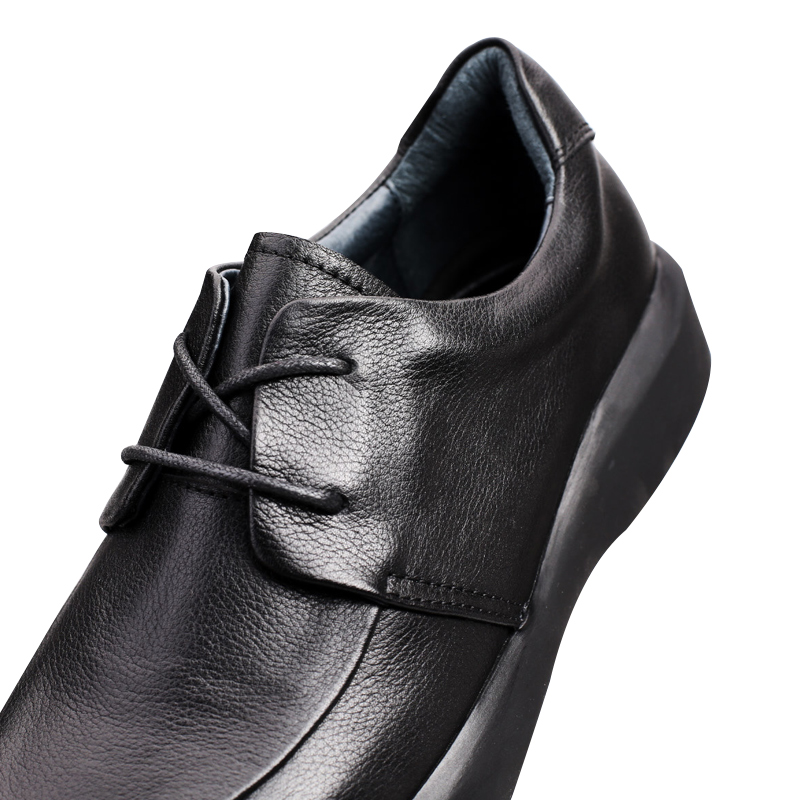 Sapatas Se Macio Do De Homens up Couro Lace Os Grife Vestem Sapatos Genuíno Superior Negócios Retro Dos Preto Lazer rrwd8a