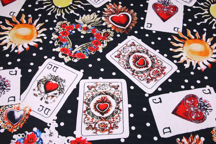 Detail feedback questions about the sacred heart playing cards