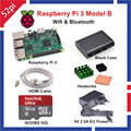 Raspberry Pi 3 Model B Starter Kit with 5V 2.5A EU/UK/US/AU Power Supply 16GB NOOBS ABS Black Case HDMI Cable Heatsinks