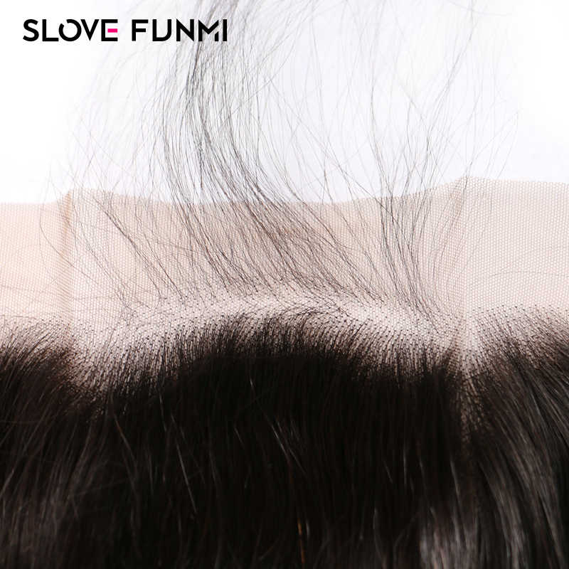 Slove Funmi Lace Closure Body Wave Remy Brazilian Human Hair 4x4 Medium Brown Lace 130% Bleached Knots with Baby Hair Pre Pluck