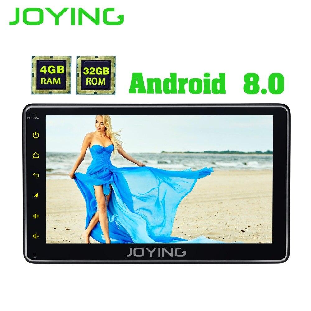 Радуясь последние 4 ГБ Android 8,0 один 1 DIN 7 Универсальный Автомобильный Радио монитор аудио стерео головы устройство поддерживает DAB +/OBD/SWC