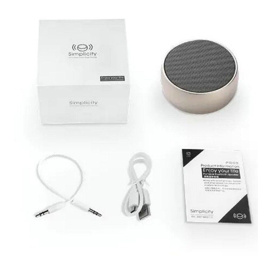 Mini Bluetooth-kõlarid Kaasaskantavad metalli traadita Super Bass - Kaasaskantav audio ja video - Foto 6