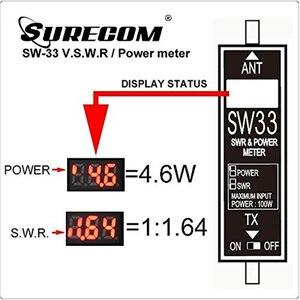 Image 5 - Surecom SW 33 العالمي الرقمي الصغير VHF/UHF الطاقة و SWR متر 125 525MHz SW 33 ل Baofeng اسلكية تخاطب FM اتجاهين الراديو
