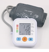 חשמלי Tonometer למדידת לחץ דם זרוע העליונה לחץ צג רפואי ציוד מכונה פעימות לב