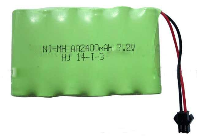 2400mah 7.2v rechargeable pack battery nimh 7.2v / aa nimh battery ni-mh 7.2v for Remote control electric toy tool boat