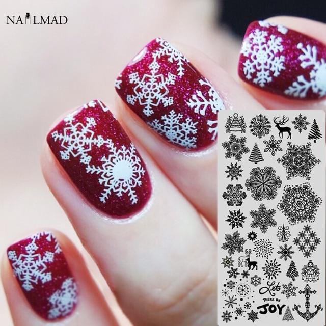 1pc Snowflake Nail Stamping Plate Xmas Nail Art Stamping Image Plate ...