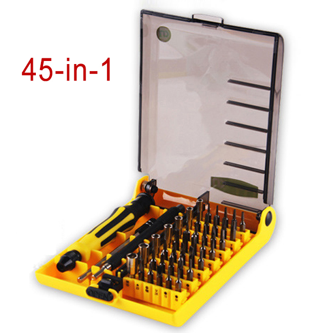 high quality 45 in 1 screwdriver set crv crv high hardness phone phone repair tools. Black Bedroom Furniture Sets. Home Design Ideas