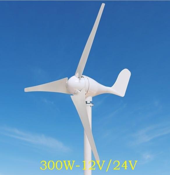 Le générateur d'énergie éolienne de WWS-ENERGY 300 W 12 V ou 24 V comprend le contrôleur de générateur 3 lames adaptées à l'utilisation de Yacht de bateau de bateau de bateau à la maison