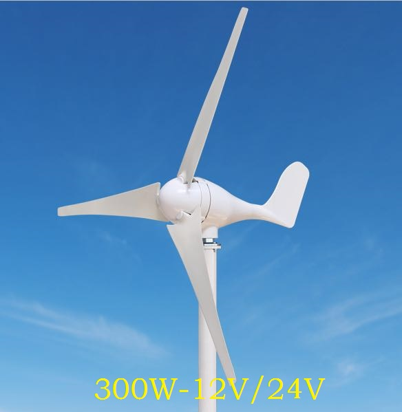 WWS ENERGY Wind Power Generator 300W 12V or 24V include Generator Controller 3 Blades fit for Home Ship Boat Yacht use