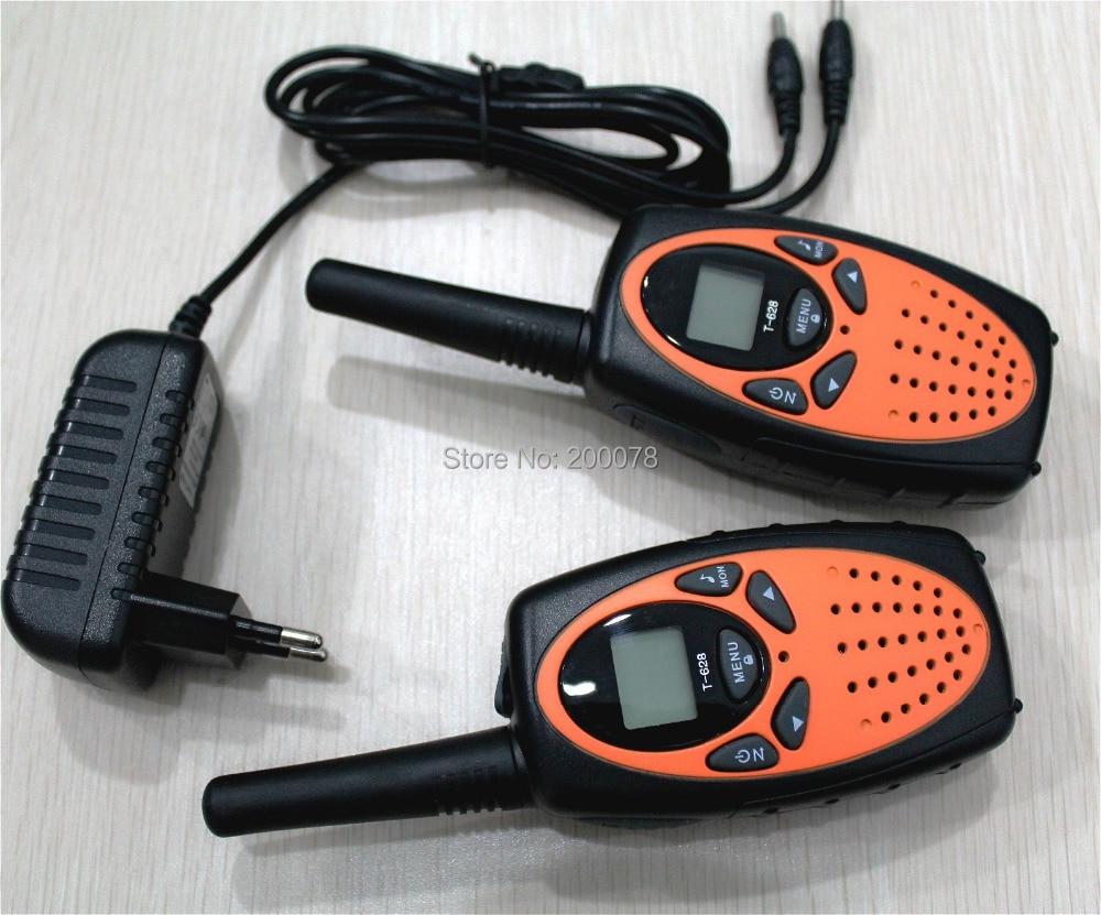 T628 1w Lange afstand vox 2 kanaals monitor FRS GMRS radio walkie talkies paar mobiele draagbare radio's interphone 121 private code