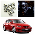 8 pcs Xenon Branco Lâmpadas LED Interior Package Kit Para 2004 2005 2006 2007 2008 2009 Mazda 3 Mapa Dome Matrícula lâmpada