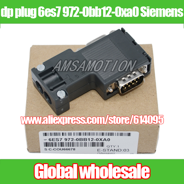 1pcs dp plug 6es7 972-0bb12-0xa0 for Siemens / profibus bus connector / 90 degrees programming port Electronic Data Systems