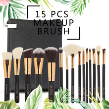 15Pcs Makeup Brushes Set Eye Shadow Foundation Powder Eyelin