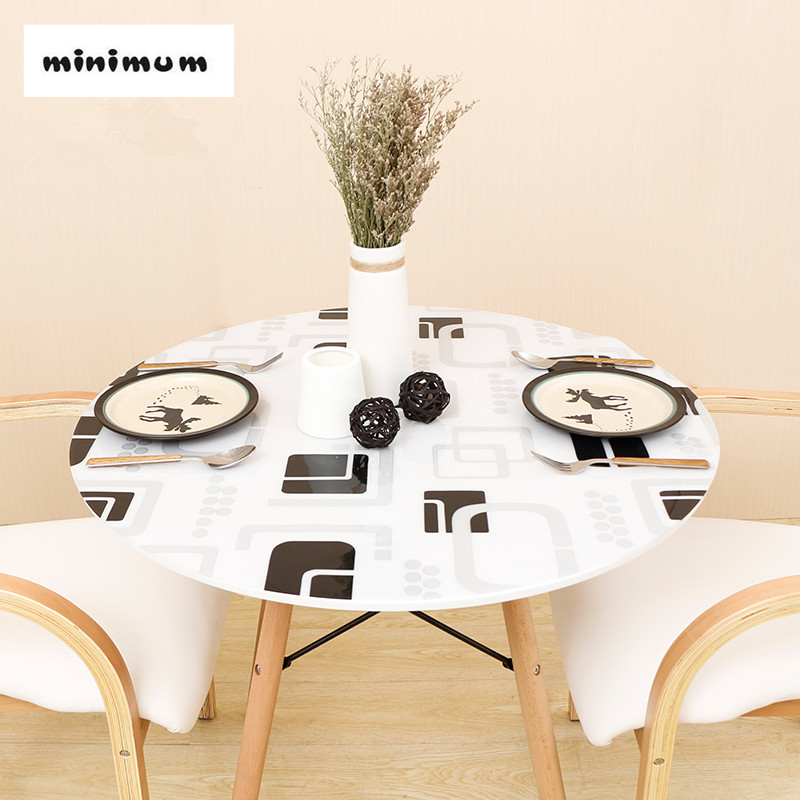 Round Tablecloth Plastic Table Mat European Round Soft