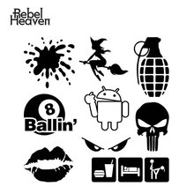 Rebel Heaven Car Styling Funny JDM Splash Lips Evil Eyes Sexy Witch EAT SLEEP F**k Your Girlfriend Vinyl Car Sticker eat your peas