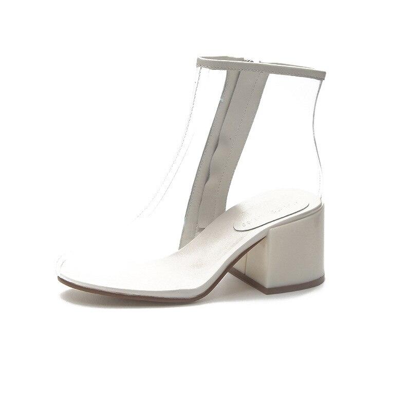 Cremallera Transparente Sandalias Zapatos Boda De Tacones Gladiador Jalea  La Manera Nueva Claro Talón Sexy Mujer xXC0wn7w6F 0d43169fa534