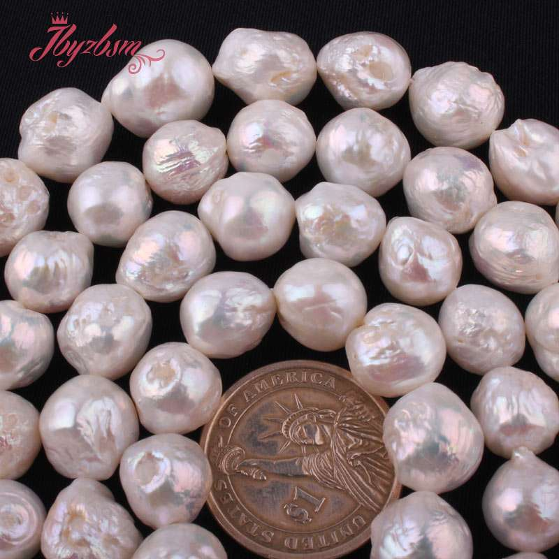 10-14mm Natural White Freshwater Pearl Nearround Stone Loose Beads 14.5For DIY Necklace Bracelets Jewelry Making,Free Shipping10-14mm Natural White Freshwater Pearl Nearround Stone Loose Beads 14.5For DIY Necklace Bracelets Jewelry Making,Free Shipping