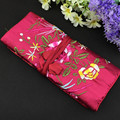 Clutch Chinese Silk Gift Bag for Travel Jewelry Roll Pouch Embroidery Portable Storage Case Women Makeup Cosmetic Packaging Bags