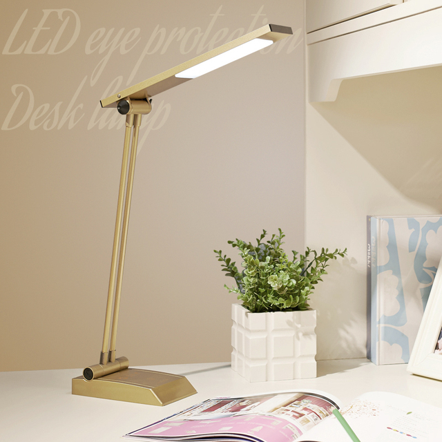 LED eye protection table lamp touch control study reading desk lights no rechargebale