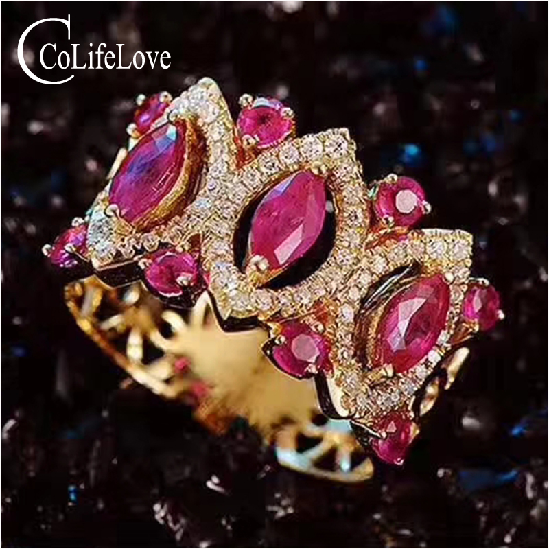 Baroque silver ruby ring for woman 11 pcs natural Africa ruby silver ring solid 925 silver ruby jewelry romantic gift for girl путь ruby