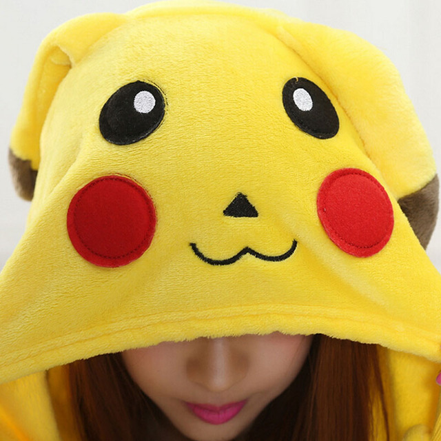 Adult-Kid Matching Costume Pikachu Kigurumi Onesie Women Animal Costume Fancy Soft Anime Pokemon Cosplay Onepiece Child Boy Girl Winter Jumpsuit 1