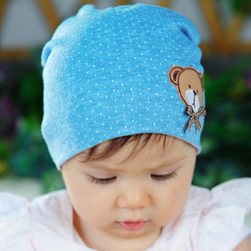 Hat for Kids 2017 New Unisex Newborn Baby Boy Girl Toddler Cotton Soft Cute  Hat Cap Beanie Dot Cap Knitted Gorros Bone 0ffbdf9ea21f