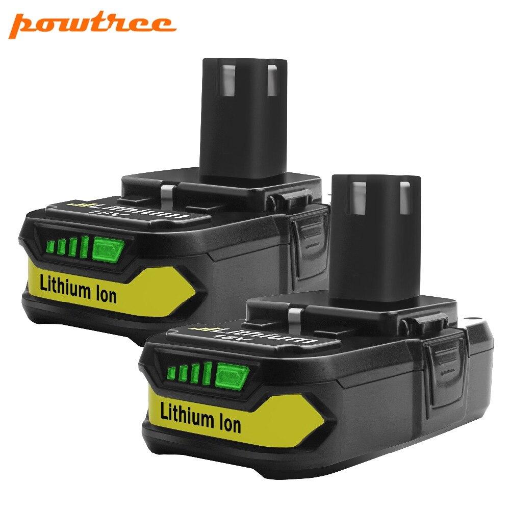 2X18 V 2500 mAh Li-ion P107 Batterie Rechargeable Pour Ryobi Outils Électriques Perceuses Remplacer P100 P102 P103 P104 P105 P107 P108 L10