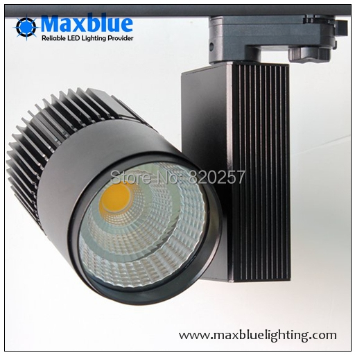 30W CREE COB LED Track light black housing, CRI 80Ra as shopping mall/ clothing store lighting lamp dhl ems free shipping 12pcs lot 20w cree cob led track light for shops gallary lighting