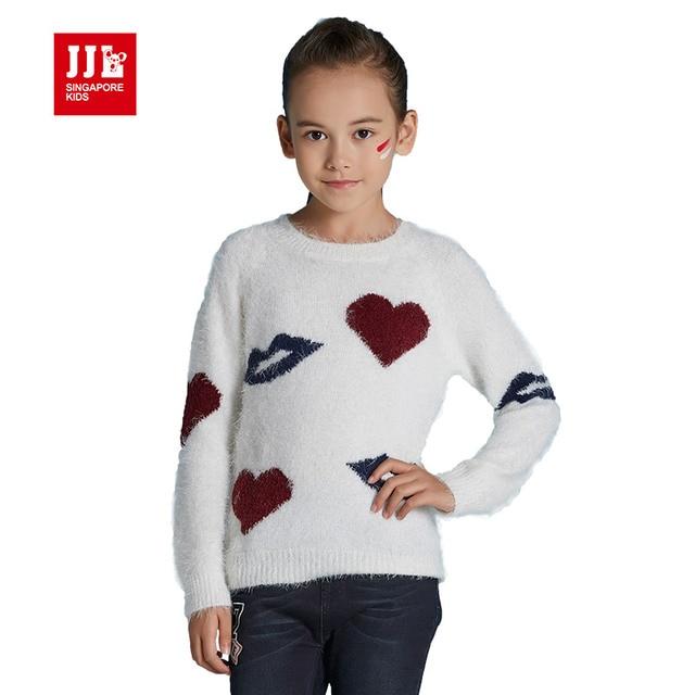 14d79150c girls sweater heart pattern kids pullover winter kids tops girls ...