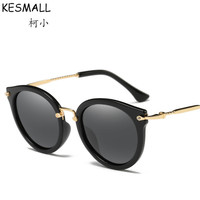 Moda óculos polarizados óculos de sol das mulheres do vintage cat eye óculos de sol uv shades yj775 full frame óculos oculos de sol feminino verão