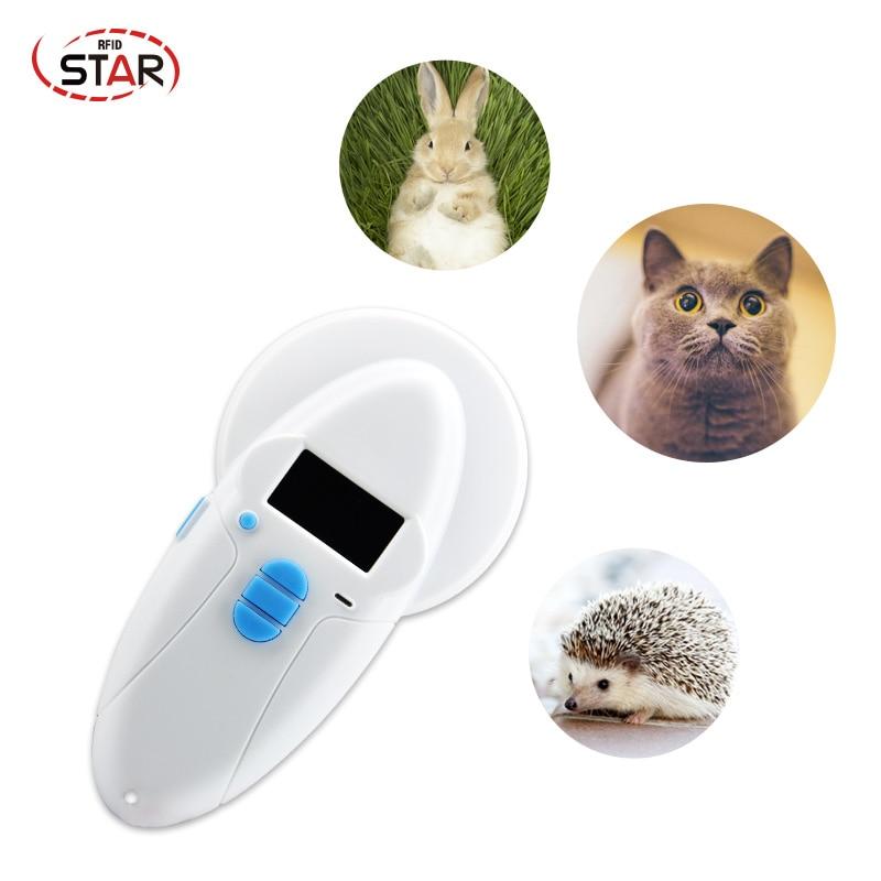 USB RFID Handheld Reader Animal Chip Scanner EM ID FDX-A/B,HDX PET Animal Scanner, Cat/dog Microchips Transponder Scanner Device