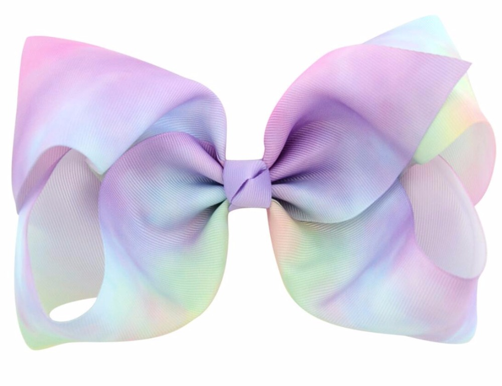 free shipping 100pcs 8 Large unicorn Bow With Hair Clip unicorn big hair bows ombre hair