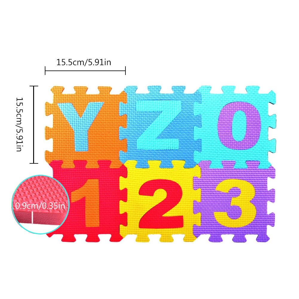 36 Pcs Childrens Puzzle Mat Digital Letter Educational Foam Cushion Cold-proof Environmentally Friendly Baby Crawling Mat Special Buy Mother & Kids