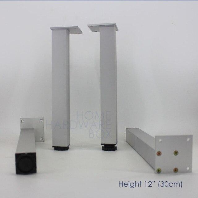 30 cm 4x gamba del tavolo di alluminio del metallo piedini regolabili in altezza da cucina porta - Piedini cucina 15 cm ...