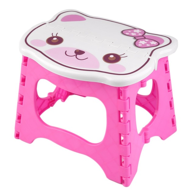 New Cute Foloable Chair Superior Quality Durable Infant Baby Foldable Folding Step Stool Kids