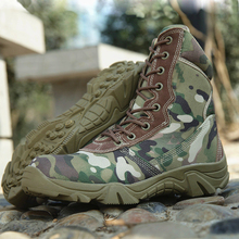 2016 military boots men desert ankle genuine leather tactical footwear Army fans outdoor climbing shoes