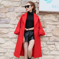 New Women's Wool Coat Autumn 2016 Winter Fashion Elegant Loose Solid Color Turn-down Collar Long Woolen Coat Plus Size Female