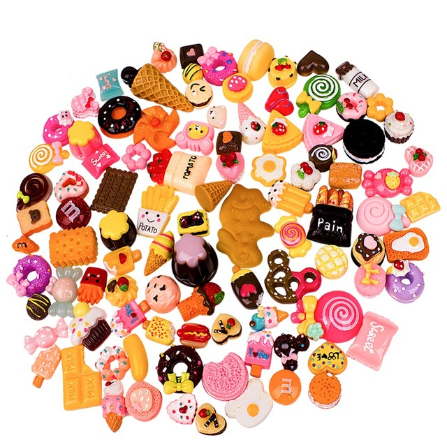 Charms for Slime, 100 Pieces Cute Fruit Beads to Put in Slime for Scrapbooking DIY Crafts DIY Hairbands/Photo Frames/Women Gifts