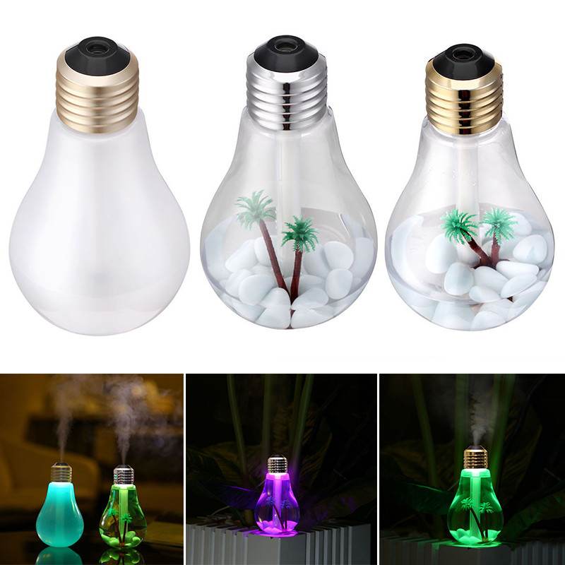400ml LED Lamp Air Ultrasonic Humidifier for Home Essential Oil Diffuser Atomizer Air <font><b>Freshener</b></font> Mist Maker with LED Night Light