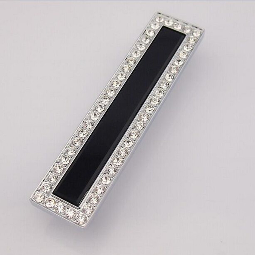 128mm fashion diamond furniture decoration handle k9 crystal drawer cabinet pull silver bronze dresser cupboard handles pulls 5