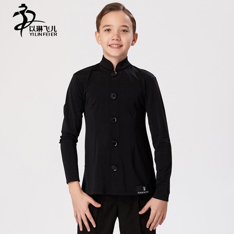 Childrens Chinese tunic suit Latin dance performance Coat/Boys Latin Waltz Tango Tap Ballroom Dance