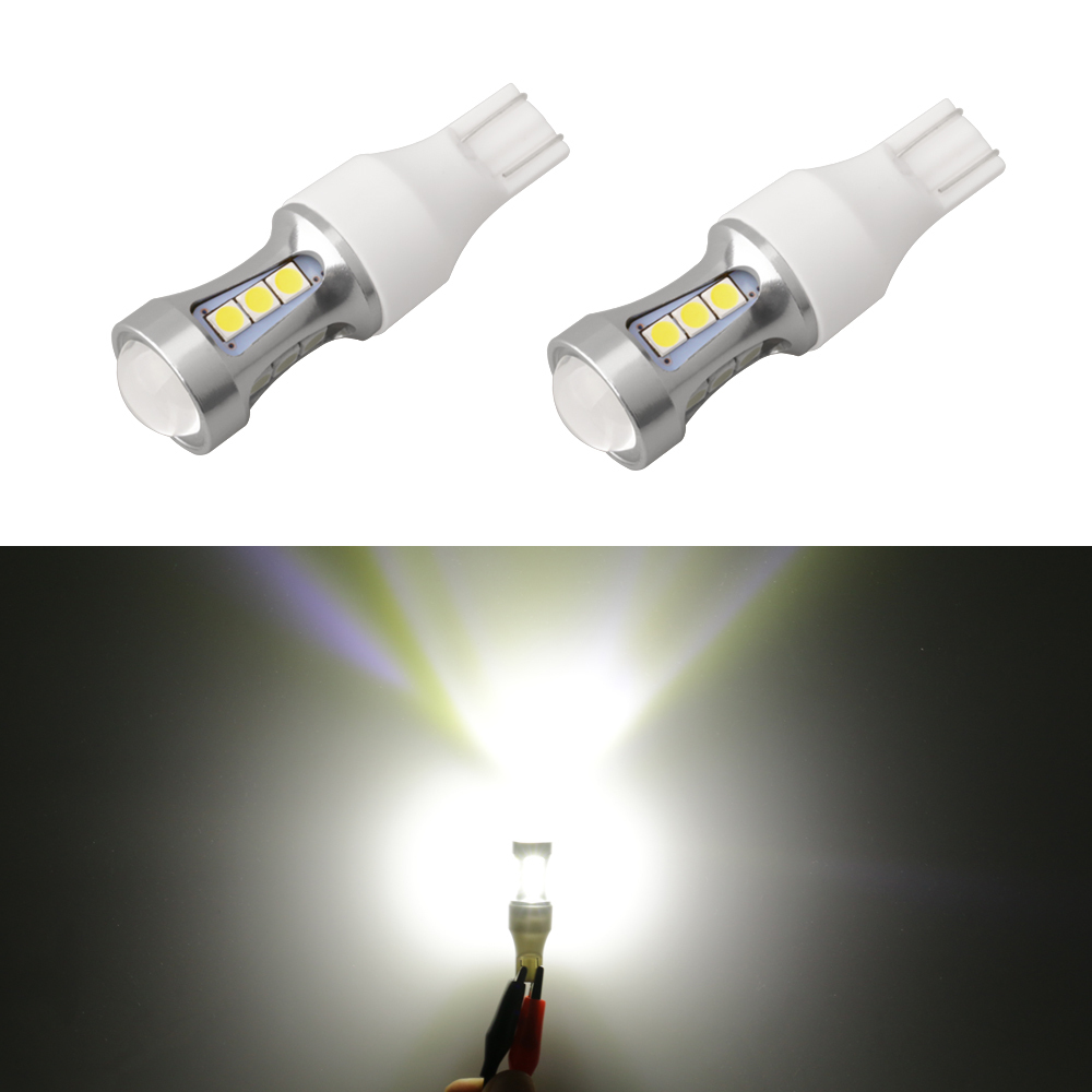 1piece 1000Lm W16W T15 LED Bulbs Canbus OBC Error Free LED Backup Light 921 912 W16W LED Bulbs Car Reverse Lamp Xenon White D030