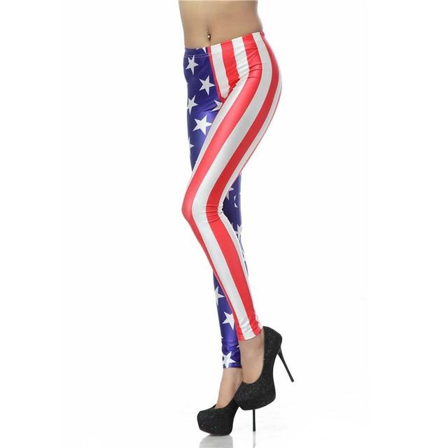 Legginsy Amerykańska Flaga USA
