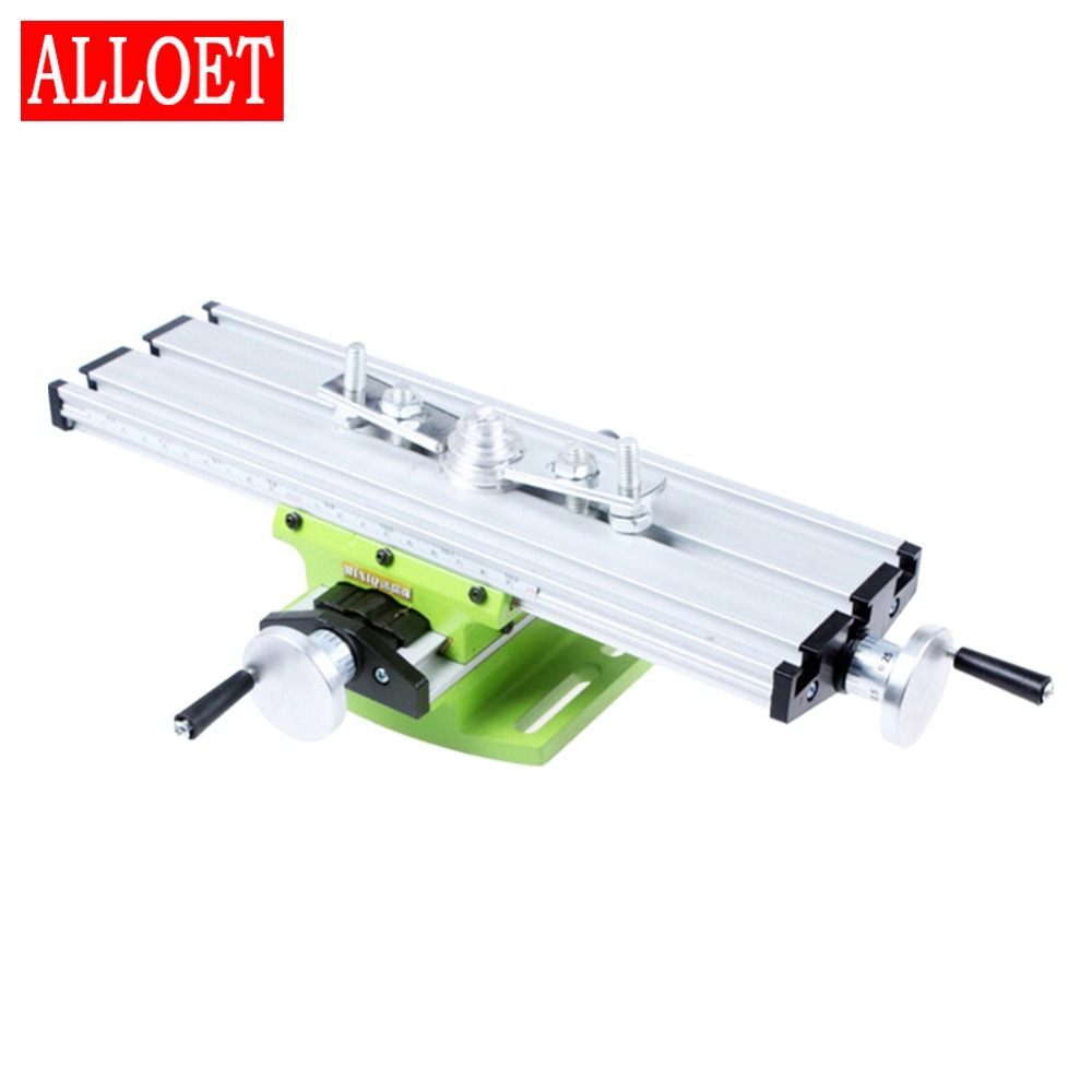 Multifunctional Miniature Precision Milling Machine Drill Bench Vise Fixture Worktable X Y axis Adjustment Coordinate Table