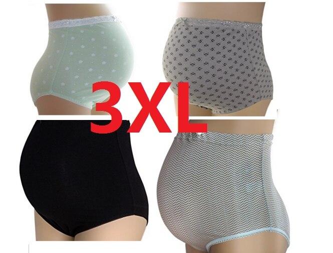 4PCS/lot Women Briefs High Waist Cotton Everyday Panty Panties Underwear Ladies Underpants Large Size XXXL(3XL)