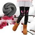 Ropa para niños Otoño Invierno Lindo Animal Print Elástico de Terciopelo Niños Pantalones Calientes de La Muchacha Niñas Espesan Las Polainas del Algodón