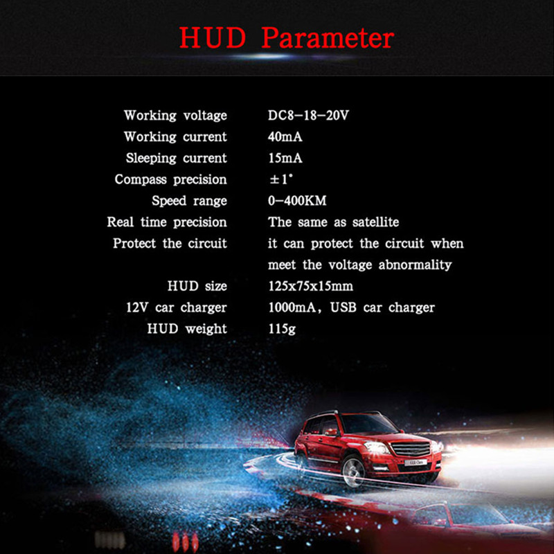 Image 3 - GEYIREN hud display car Q7 gps speedometer car for mirror hud Car Bike Motorcycle Auto Accessories Windshield Projector Alarm-in Head-up Display from Automobiles & Motorcycles