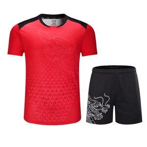 Image 3 - Yeni çin takımı masa tenisi setleri erkekler/kadınlar, ping pong giysileri, masa tenisi formaları, masa tenisi gömlek + şort spor takımları